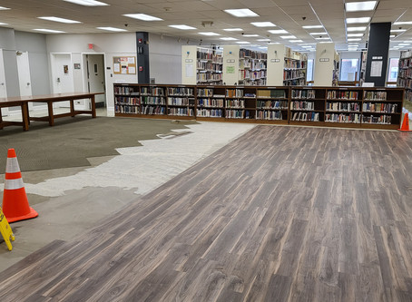 Check Out Our New Floors at Martinsburg Public Library