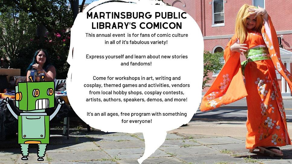 Martinsburg Public Library ComiconHeader
