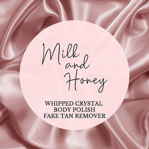 Whipped Milk & Honey Fake Tan Body Polish Remover with Skin Conditio
