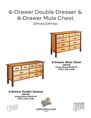 6-Drawer Double Dresser & 8-Drawer Mule Chest - OH140/OH160