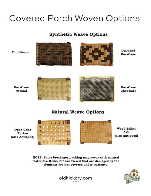 Covered Porch Woven Options