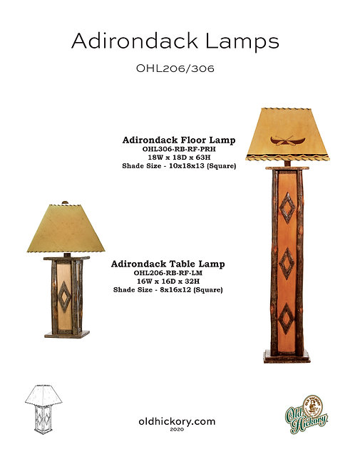 Adirondack Lamps - OHL206/OHL306