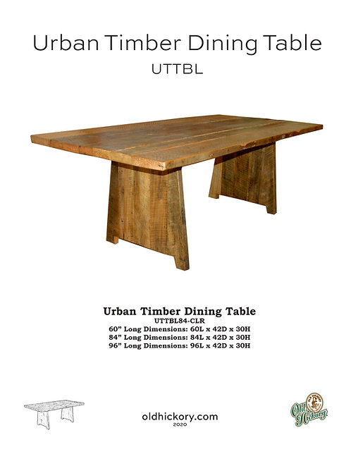 Urban Timber Dining Table - UTTBL