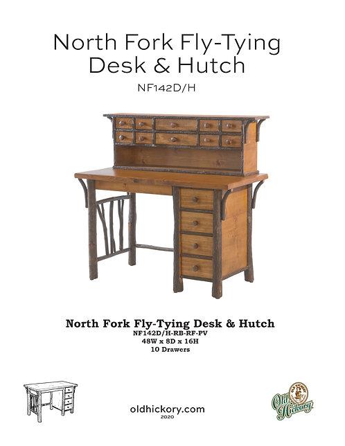 North Fork Fly-Tying Desk & Hutch - NF142D/NF142H