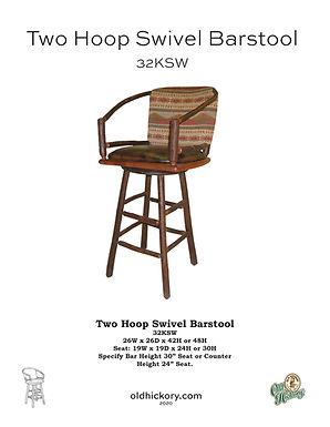 Two Hoop Swivel Barstool - 32KSW