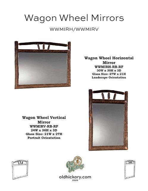 Wagon Wheel Mirrors - WWMIRH/WWMIRV