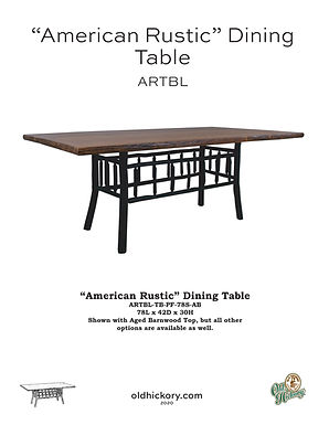 """""""American Rustic"""" Dining Table - ARTBL"""
