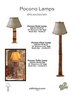 Pocono Lamps - OHL101/OHL201/OHL301