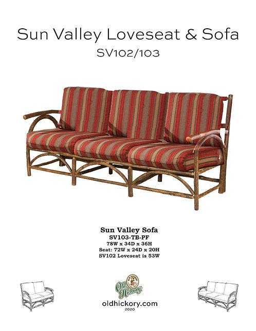Sun Valley Loveseat & Sofa - SV102/SV103