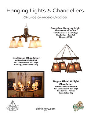 Hanging Lights & Chandeliers - OHL403-04/OHL406-04/OHL407-06
