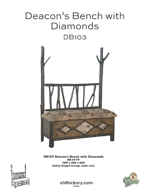 Deacon's Bench with Diamonds - DB103