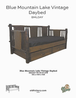 Blue Mountain Lake Daybed - BMLDAY