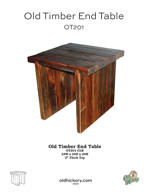 Old Timber End Table - OT201