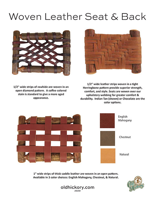 Woven Leather Seat & Back Options