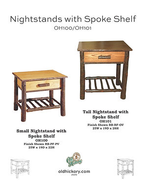 Nightstands with Spoke Shelves - OH100/OH101