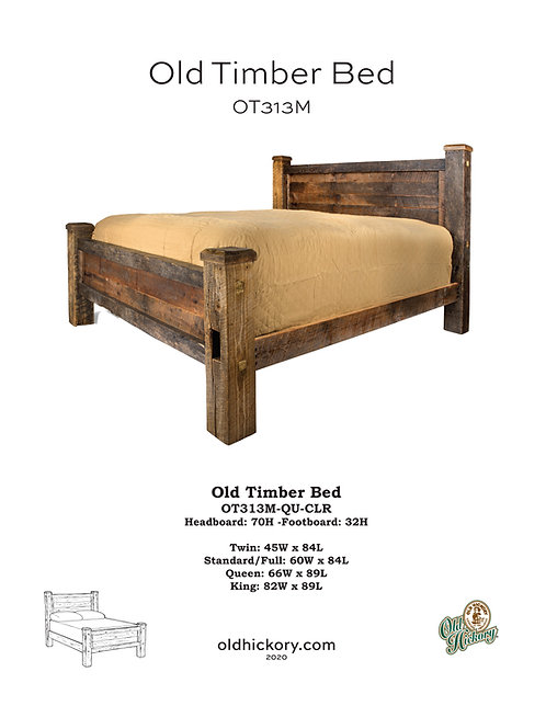 Old Timber Bed - OT313M