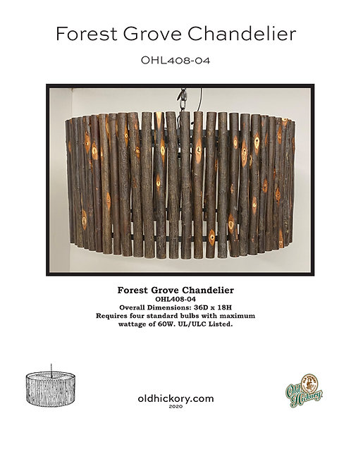 Forest Grove Chandelier - OHL408-04
