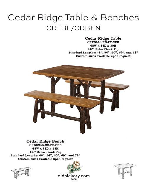 Cedar Ridge Table & Benches - CRTBL/CRBEN