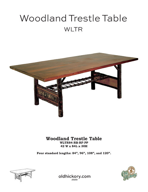Woodland Trestle Table - WLTR