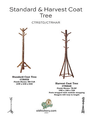 Standard & Harvest Coat Trees - CTRSTD/CTRHAR
