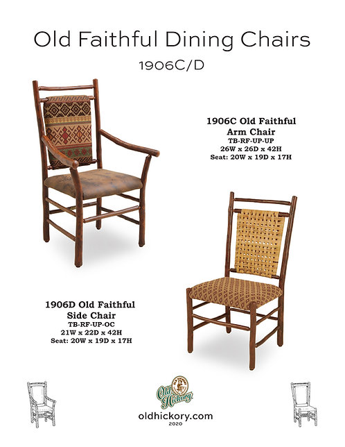 Old Faithful Dining Chairs - 1906C/1906D
