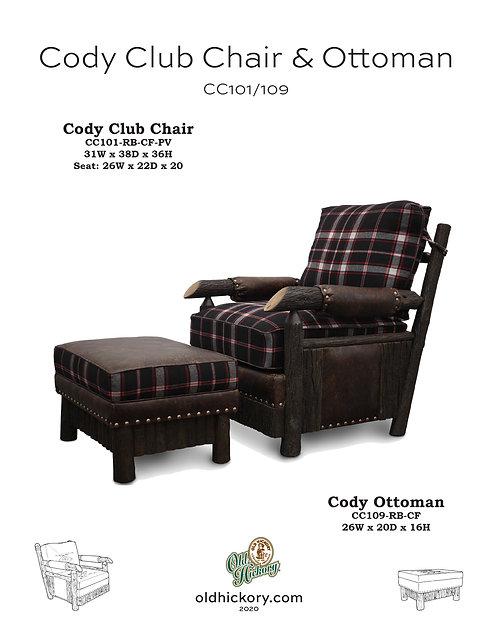 Cody Chair & Ottoman - CC101/CC109