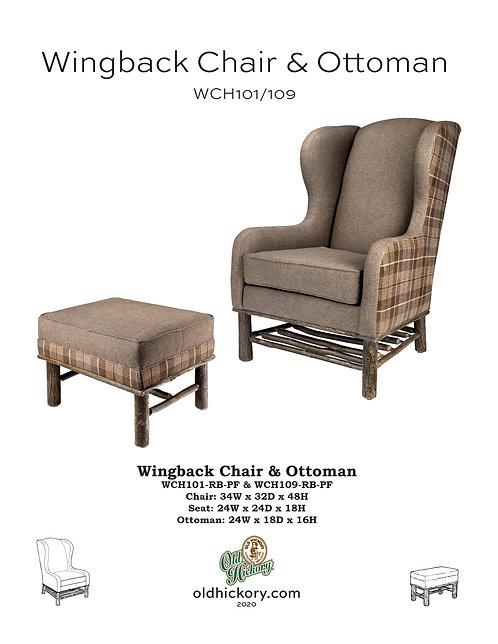 Wingback Chair & Ottoman - WCH101/WCH109