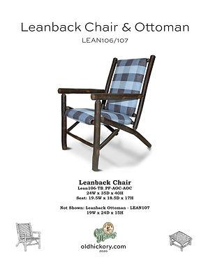 Leanback Chair & Ottoman - LEAN106/LEAN107
