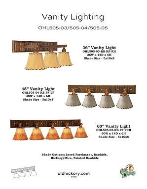 Vanity Lighting - OHL505-03/OHL505-04/OHL505-05