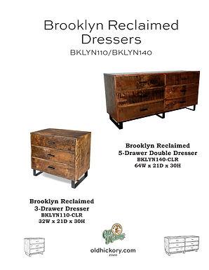 Brooklyn Reclaimed Dressers - BKLYN110/BKLYN140
