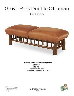 Grove Park Double Ottoman - GPL255