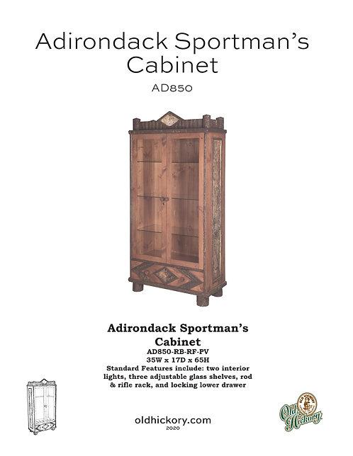 Adirondack Sportman's Cabinet - AD850