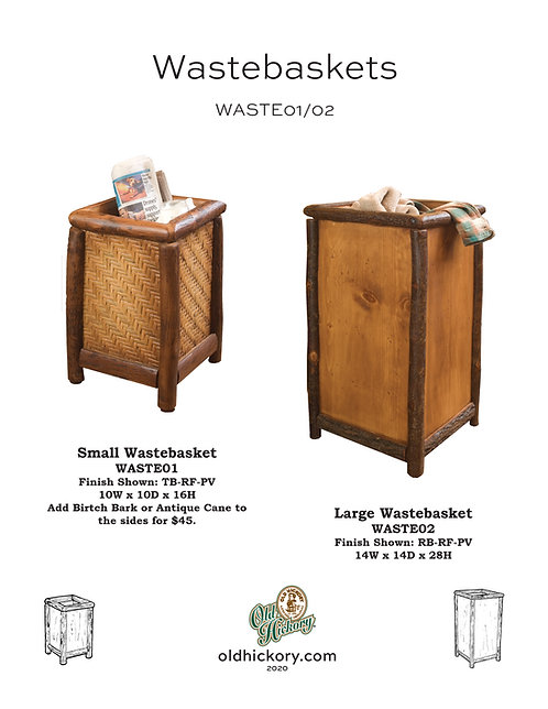 Wastebaskets - WASTE01/WASTE02