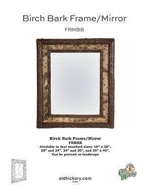 Birch Bark Frame/Mirror - FRMBB