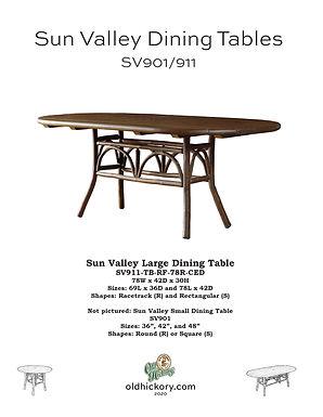 Sun Valley Dining Tables - SV901/SV911