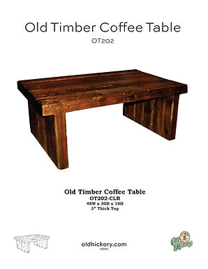 Old Timber Coffee Table - OT202