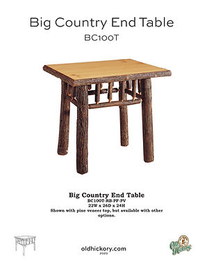 Big Country End Table - BC100T