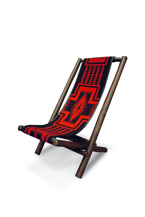 Lolo Chair with Pendleton's Walking Rock Black fabric
