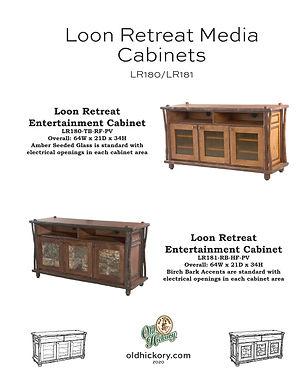 Loon Retreat Media Cabinets - LR180/LR181