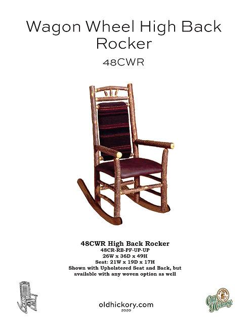 Wagon Wheel High Back Rocker - 48CWR