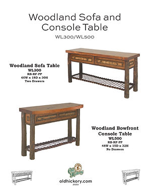 Woodland Sofa & Bowfront Console Table - WL300/WL500