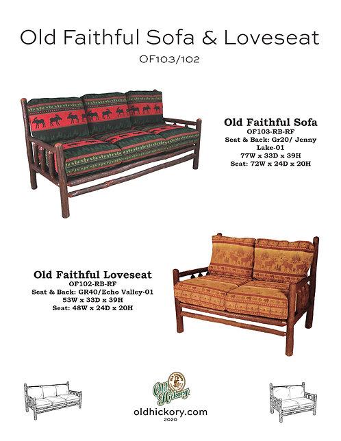 Old Faithful Sofa & Loveseat - OF103/OF102