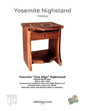 Yosemite Nightstand - YOS100