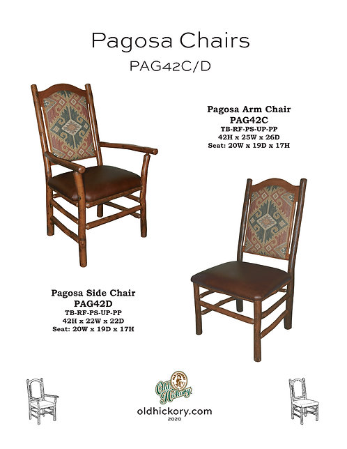 Pagosa Dining Chairs - PAG42C/PAG42D