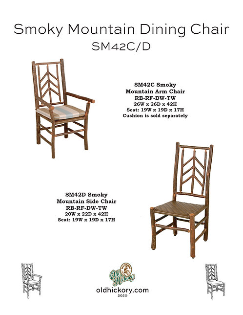Smoky Mountain Dining Chairs - SM42C/SM42D
