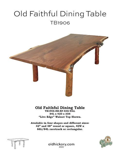 Old Faithful Dining Table - TB1906