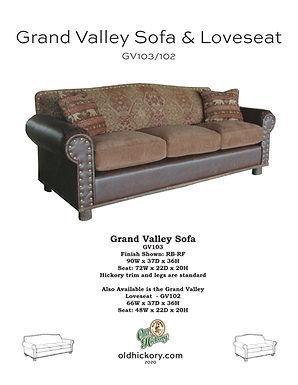Grand Valley Sofa & Loveseat - GV103/GV102