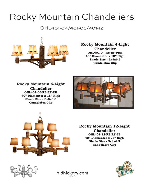 Rocky Mountain Chandeliers - OHL401-04/OHL401-06/OHL401-12