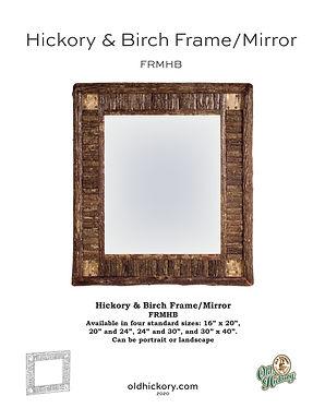 Hickory & Birch Frame/Mirror - FRMHB