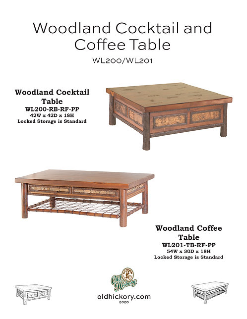 Woodland Cocktail & Coffee Table - WL200/WL201